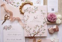 Spring Blossoms by Trouvaille Invitation