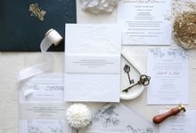 Emerald Green Orchid by Trouvaille Invitation