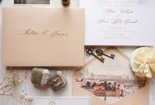 Classical Beige by Trouvaille Invitation