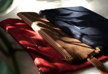 Suede Pouch for Ria & Fariz by mowla souvenir