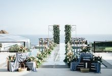 Dusty blue color scheme wedding, concepted in rustic way of decorations. by Bali Wonderful Decor