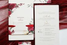 Nathaza & Joshua by Vinas Invitation