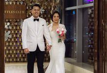 Raffles Jakarta 30 Pax Intimate Dinner Gusto & Monica by diskodiwedding
