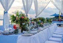 Kayumanis Beach Dinner Reception, Blue Theme by Kayumanis Sanur Private Villa & Spa