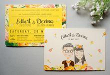 Hello Yellow Edbert & Devina by Bubble Cards