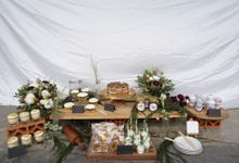 Rustic Dessert Table by Cloud Nine Cakery