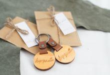 Asyer & Mella (Sage Wooden Keychain) by TJIJERAHMADE