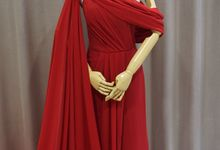 Maroon chiffon flowy dress by iLook ( Makeup & Couture )