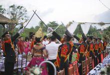 Herman & Mita Wedding - Perang Pora Procession by SOMETHING BLUE WEDDING