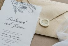 Wedding Invitation - Classic Broken White by Kanoo Paper & Gift