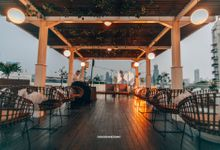 Rooftop Intimate Wedding 50 Pax @Menteng Jkt by diskodiwedding
