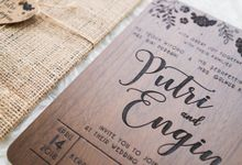 Wedding Invitation - Wooden by Kanoo Paper & Gift