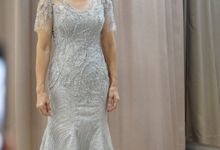Silver grey mermaid momdress by iLook ( Makeup & Couture )