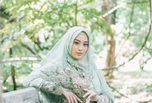 Ottoman Series - Green Sage Resepsi by LAKSMI - Kebaya Muslimah & Islamic Bride