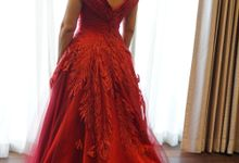 Red Mom dress by iLook ( Makeup & Couture )