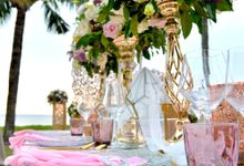 Wedding Reception Styling at Sunset Garden by InterContinental Bali Resort