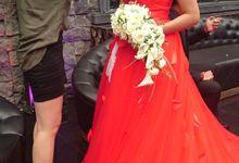 Cascade Bridal Bouquet by Seniman Bunga