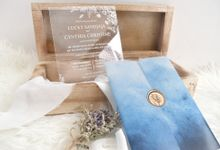 Monochrome Clear Acrylic Invitation for L & C by Furēmu
