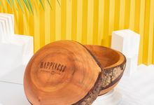 Customized Wooden Bowl for Happiness Kitchen & Cafe by Dekornata