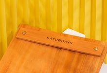 Customized Wooden Book Menu and Serving Board for SATURDAYS Jakarta by Dekornata