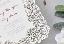 The Wedding of Randy & Feny (Laser Cut Invitation) by Paperitten