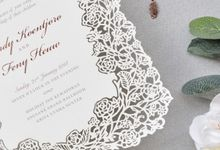 The Wedding of Randy & Feny (Laser Cut Invitation) by Paperonette