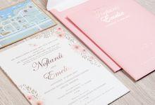The wedding of Novandi & Emelia by SentimeterCard