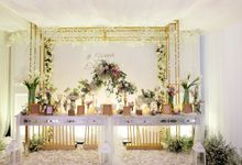 The Wedding of Eric & Cindy - Ritz Carlton Kuningan Ballroom by The Swan Decoration