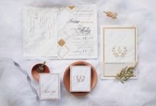 Geometric Marble Wedding Invitation by Jessica Patricia