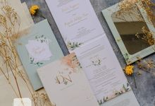 Devita & Nugroho - Mirror Invitation with Floral Mint by Jogja Wedding Net