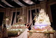 Castle waterfall Wedding cake for Benaya & Elizabeth by RR CAKES