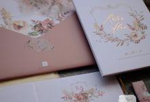 Ratna & Alan  - Simple Weddingcard with Watercolor Floral Thema by Jogja Wedding Net