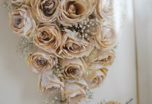 Cascading Bouquet by Camila V Flower Preservation Studio