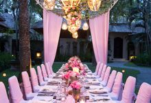 Kayumanis Garden Dinner Reception Pink Theme by Kayumanis Sanur Private Villa & Spa