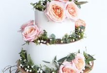 Forest Rustic Themed Two Tiered Cake by KAIA Cakes & Co.