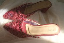 Maroon Bridal Shoes by ESMEE Studio