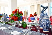 Chinoiserie Blue & Red by Royal Design Indonesia