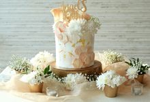 One Tier Pastel Peach Cake by KAIA Cakes & Co.