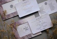 Michael & Rebeka - Frame Photo Invitation with Marble Theme by Jogja Wedding Net