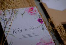 Kiky & Sena - Simple Weddingcard with Tekstur & Craft Paper by Jogja Wedding Net