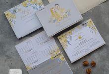 Invitation mix Calendar - Afifa & Gumilar by Jogja Wedding Net