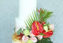 The Wedding of Fabio & Ayuthia by KAIA Cakes & Co.