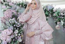 Dusty Pink Fauziah Sahaja Series by LAKSMI - Kebaya Muslimah & Islamic Bride