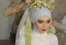 NISA & RAFI by vivi wedding make up