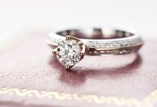 Knife-edge Crown Engagement Ring by Draco Diamonds