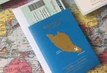 Travel Themed Invitation by Nigina Art