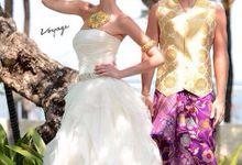 Wedding gown barcelona by De Reina Bridal