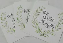 Bridesmaid's Invitations by La Vie Calligraphy