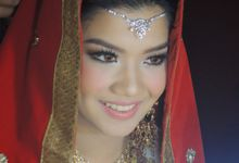 Inda and Thia's wedding makeup by Jasminelishava