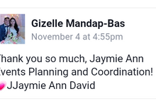 Our Clients and Feedback by Jaymie Ann Events Planning and Coordination
